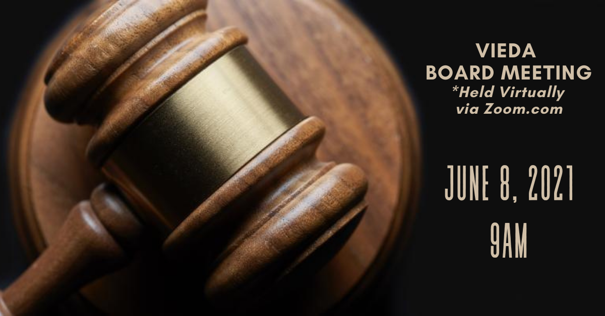 VIEDA Governing Board of Directors to meet for Public Hearing, Governing Board Meeting on June 8